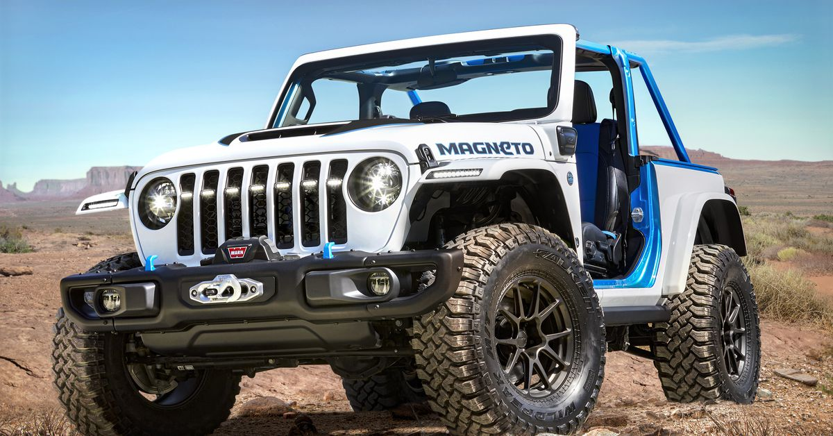 Jeep's 'Magneto' electric Wrangler concept is a big tease