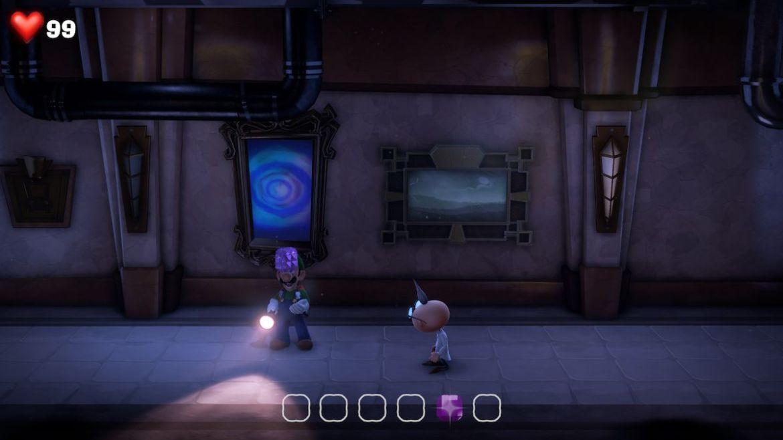 Luigi's Mansion 3 B1 Hallway purple gem