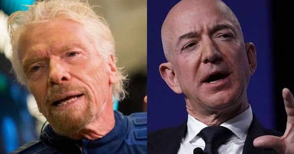 Space tourism rivalry gets extremely petty ahead of Branson's spaceflight