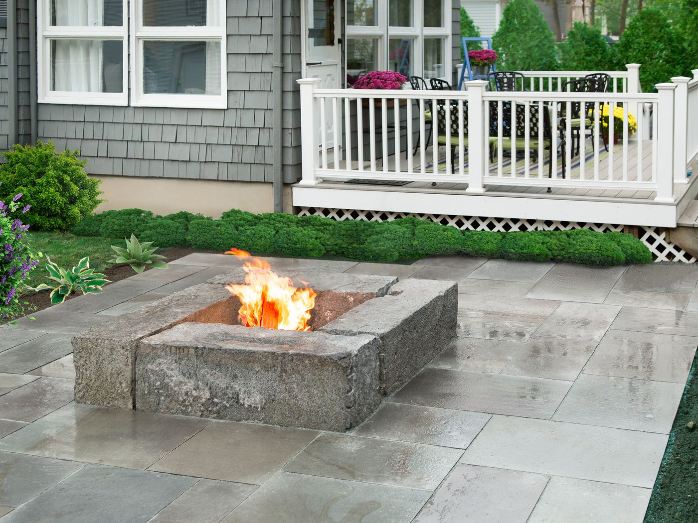 how to build a fire pit patio this