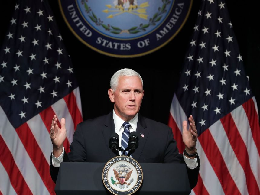 Vice President Mike Pence announces the administration's intent to create a Space Force at the Pentagon.