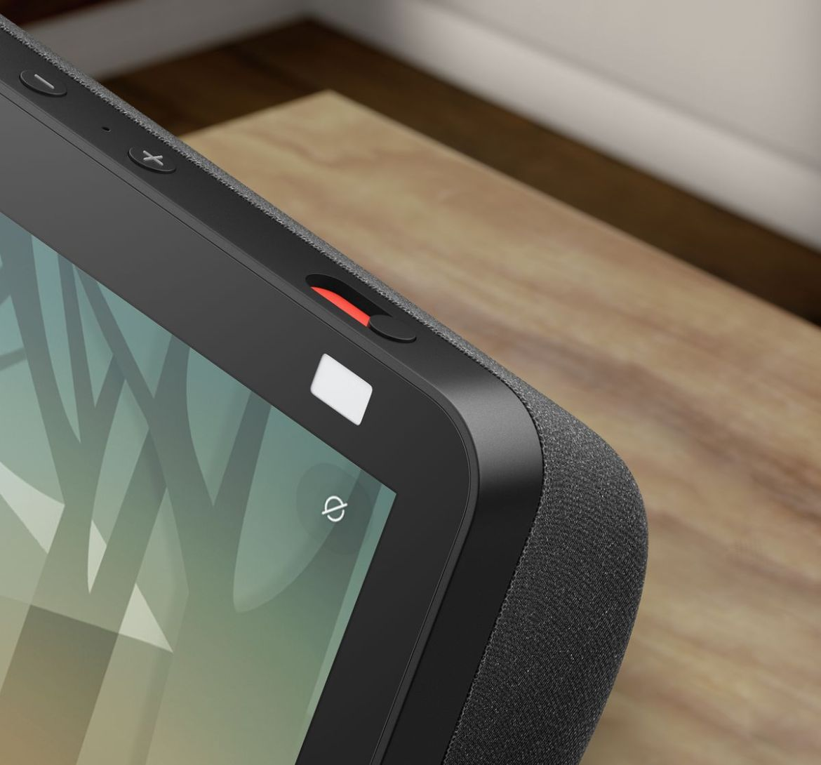 The Amazon Echo Show 8 has a physical privacy shutter for the camera