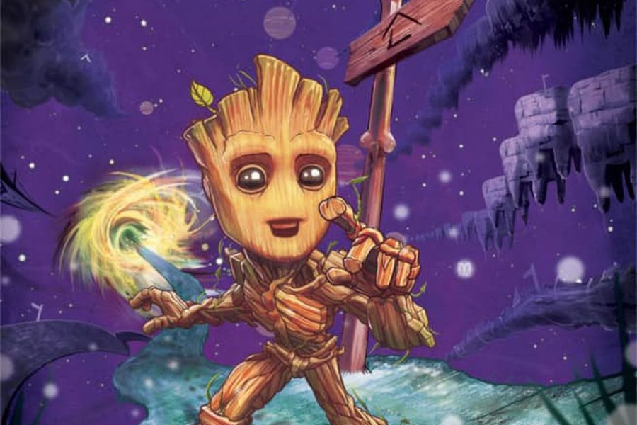 Baby Groot is getting his own comic  just in time for Guardians of     The cover of I Am Groot  1 Marco D Alfonso Marvel Comics