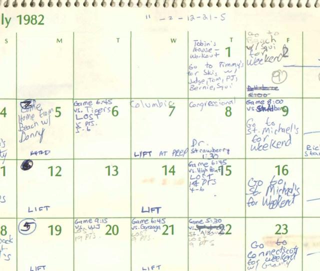 Brett Kavanaughs High School Calendar Details His Summer Schedule Senate Judiciary Committee Screenshot