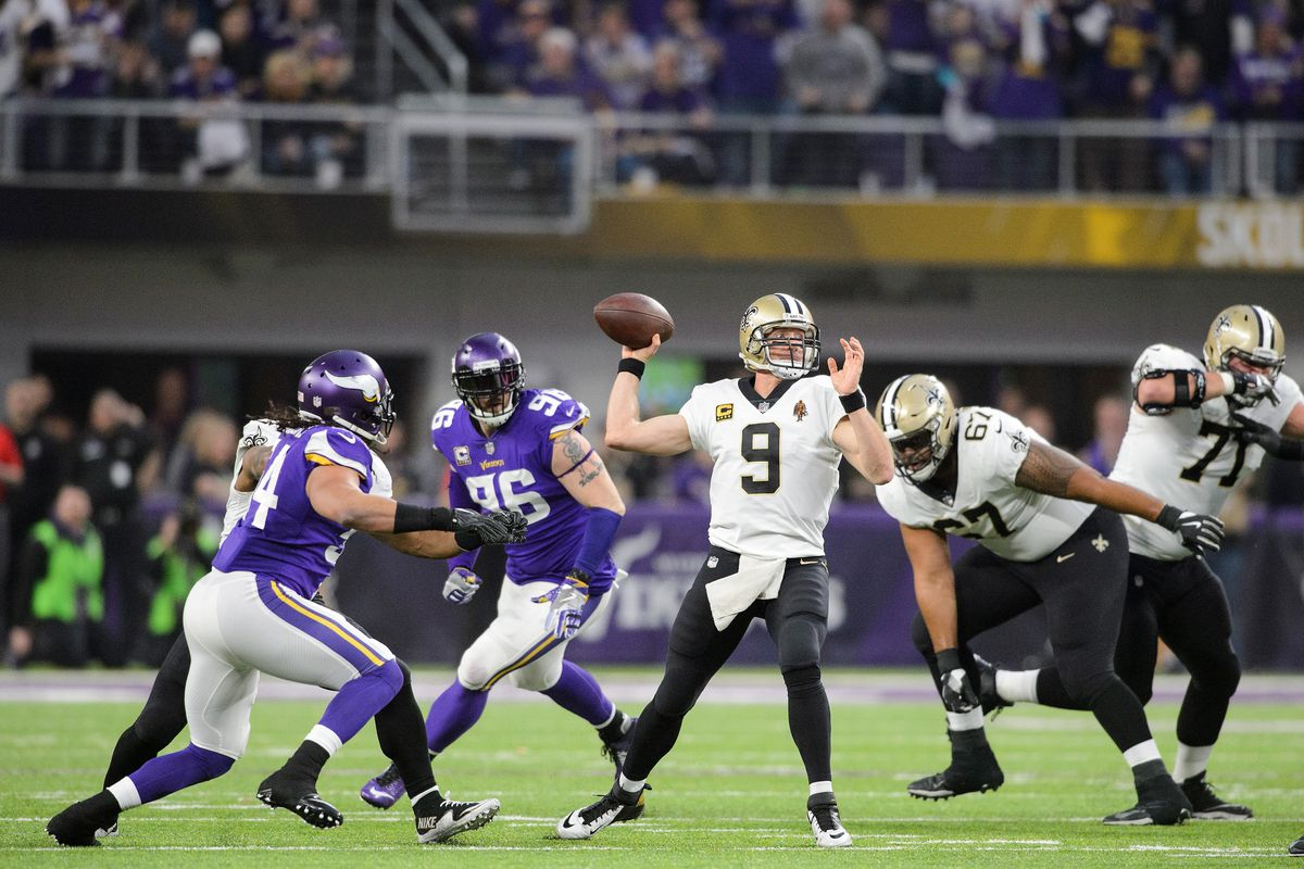 Image result for minnesota vikings vs new orleans saints