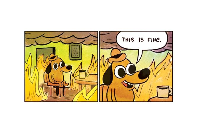 Image result for this is fine comic