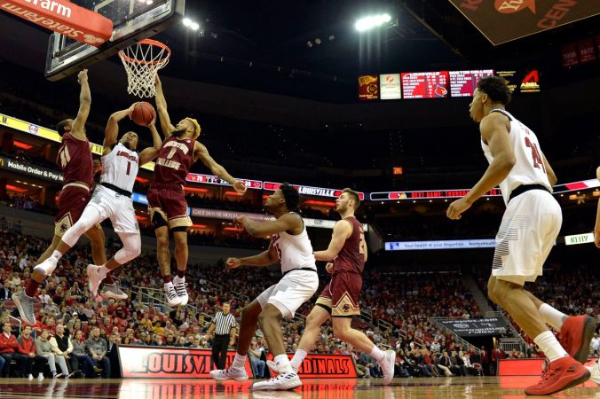Image result for Louisville Cardinals vs Boston College Eagles college basketball 2019