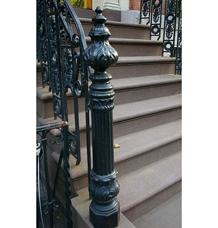 Cast Iron Newel Posts This Old House | Cast Iron Stair Railing | Residential | Horizontal | Chrome Picket Interior | Custom | Iron Baluster
