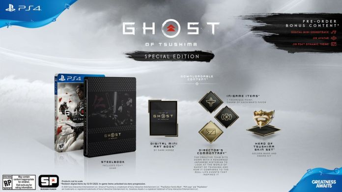 Components of the Ghost of Tsushima special edition