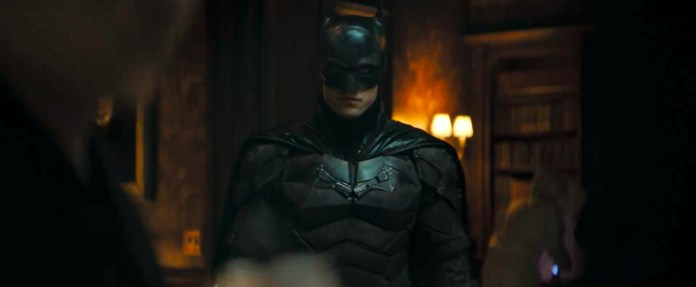the batman standing in a mansion in The Batman (2021)