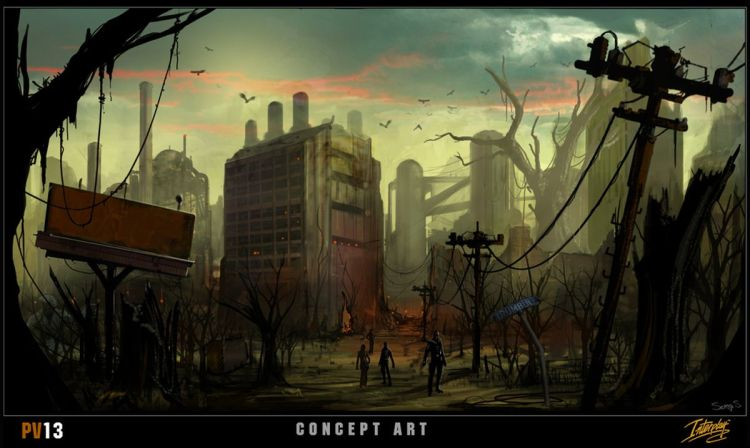 Fallout Project V13 concept art, factory landscape