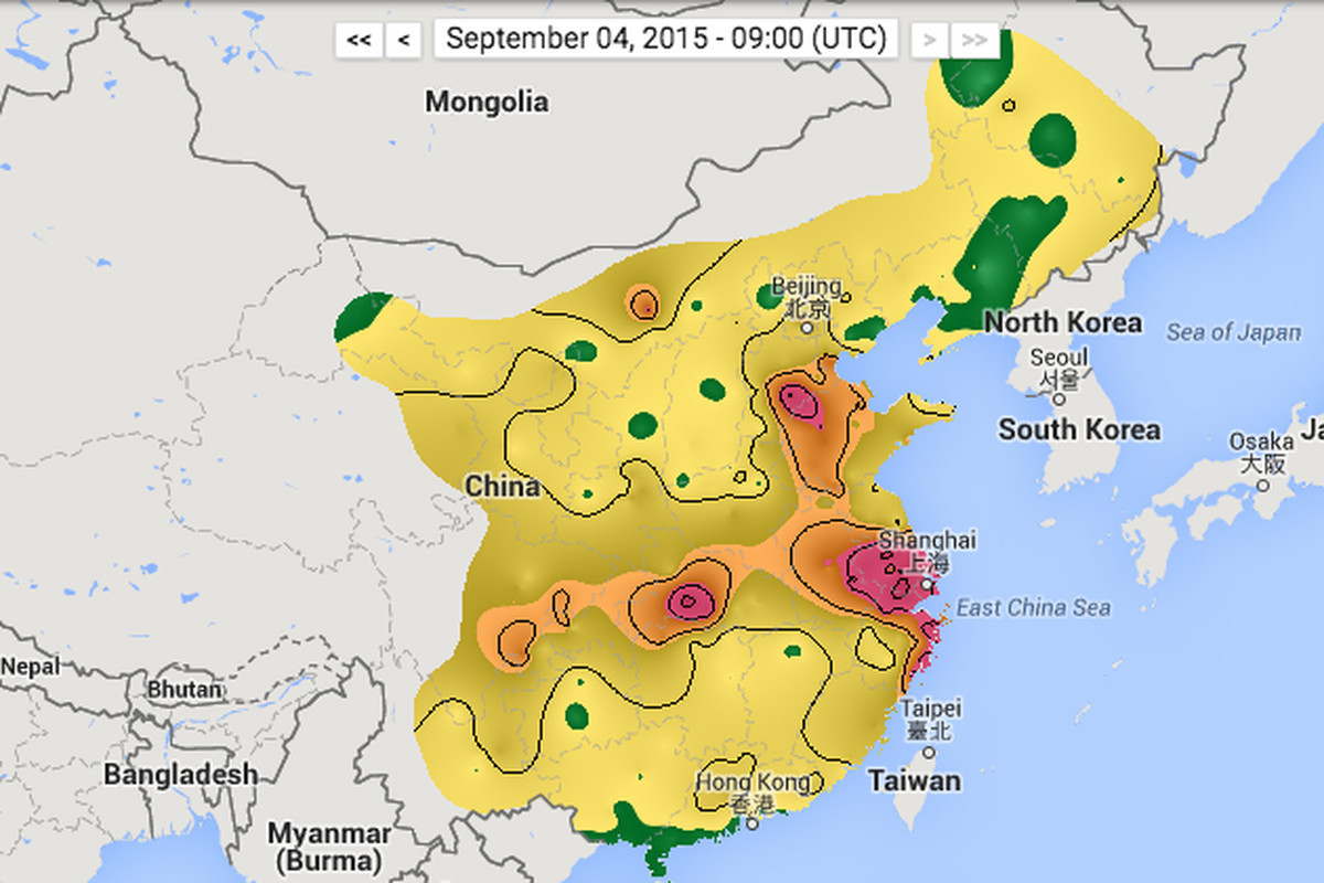 See China S Air Pollution In Real Time