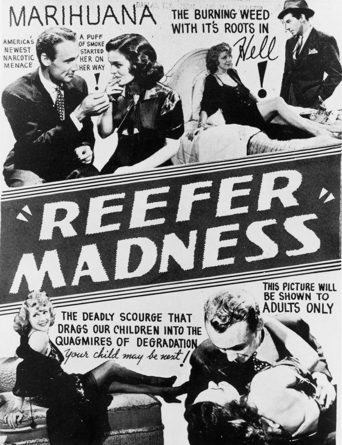 Eine Plakatwerbung Reefer Madness.