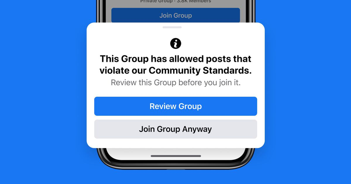 Facebook says it'll start punishing group members who break its rules