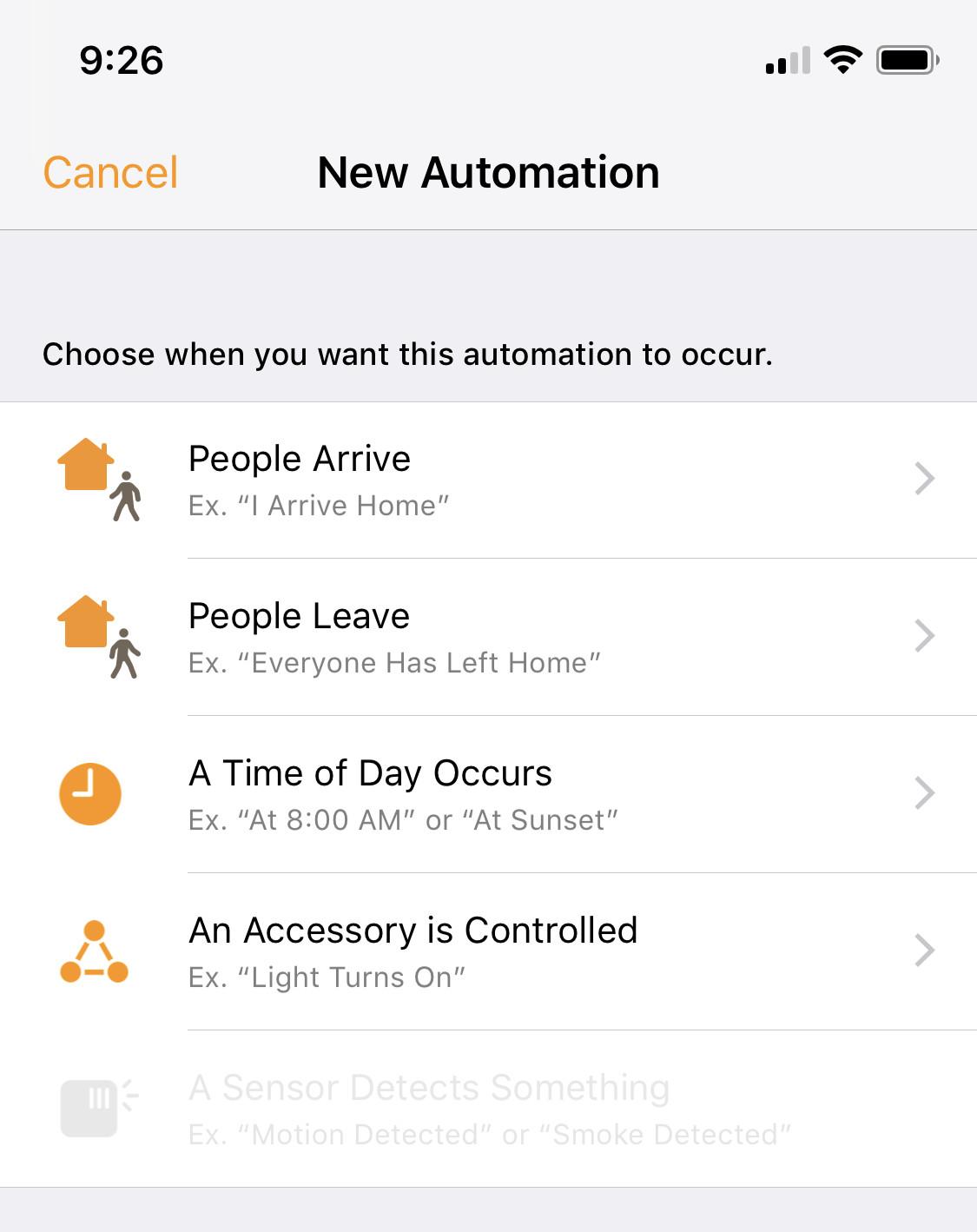 HomeKit automation