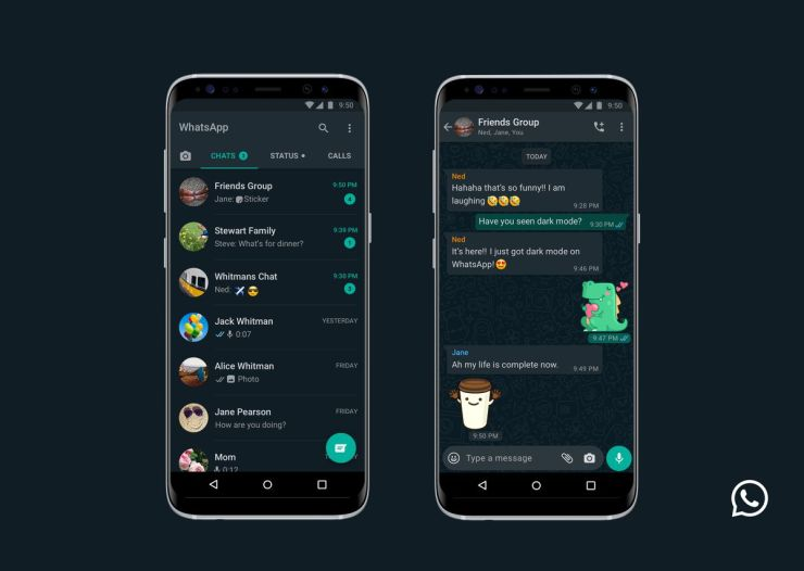 How to use Whatsapp dark mode on Android and iOS