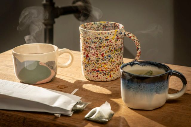 Ceramic mugs by Helen Levi