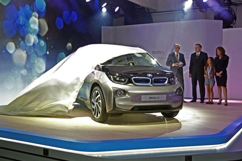 BMW i3 electric vehicle production model photos