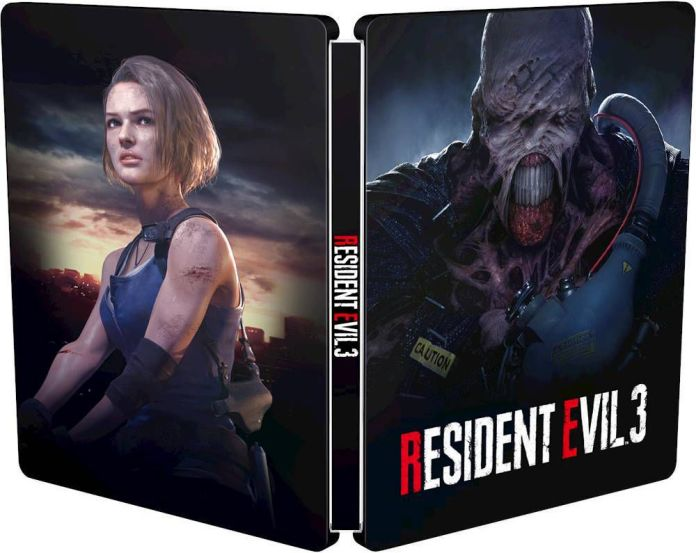 The official Best Buy-exclusive SteelBook case for Resident Evil 3
