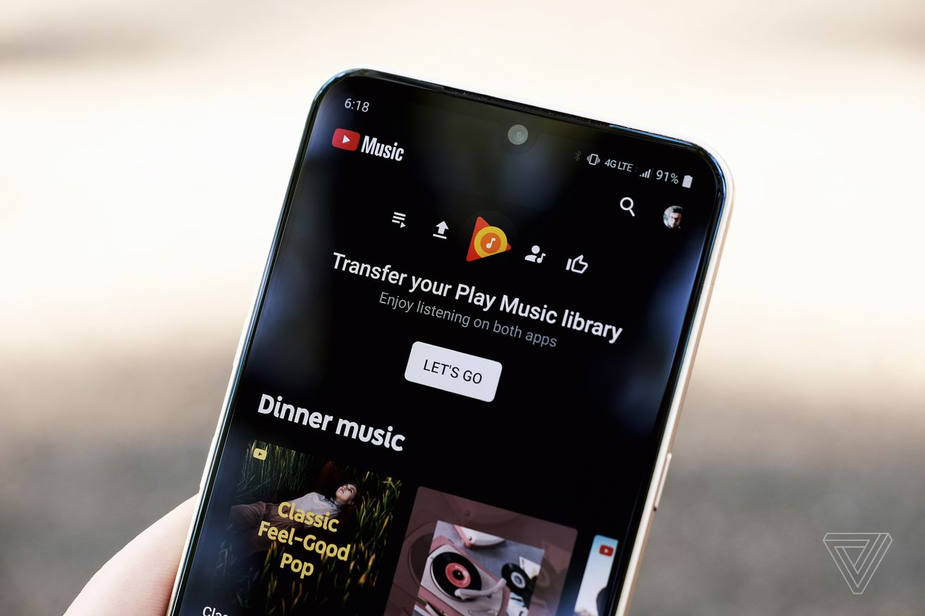 Google Play Music will begin shutting down in September