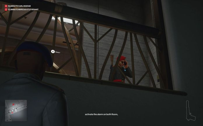 listening to a guard on the phone in Hitman 3's Dubai level