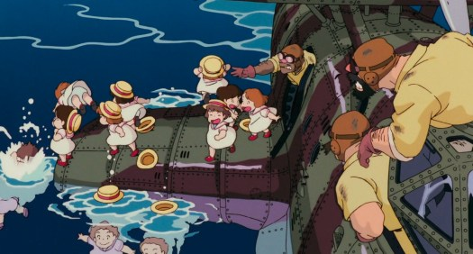 porco rosso: the schoolgirls escape the air pirates
