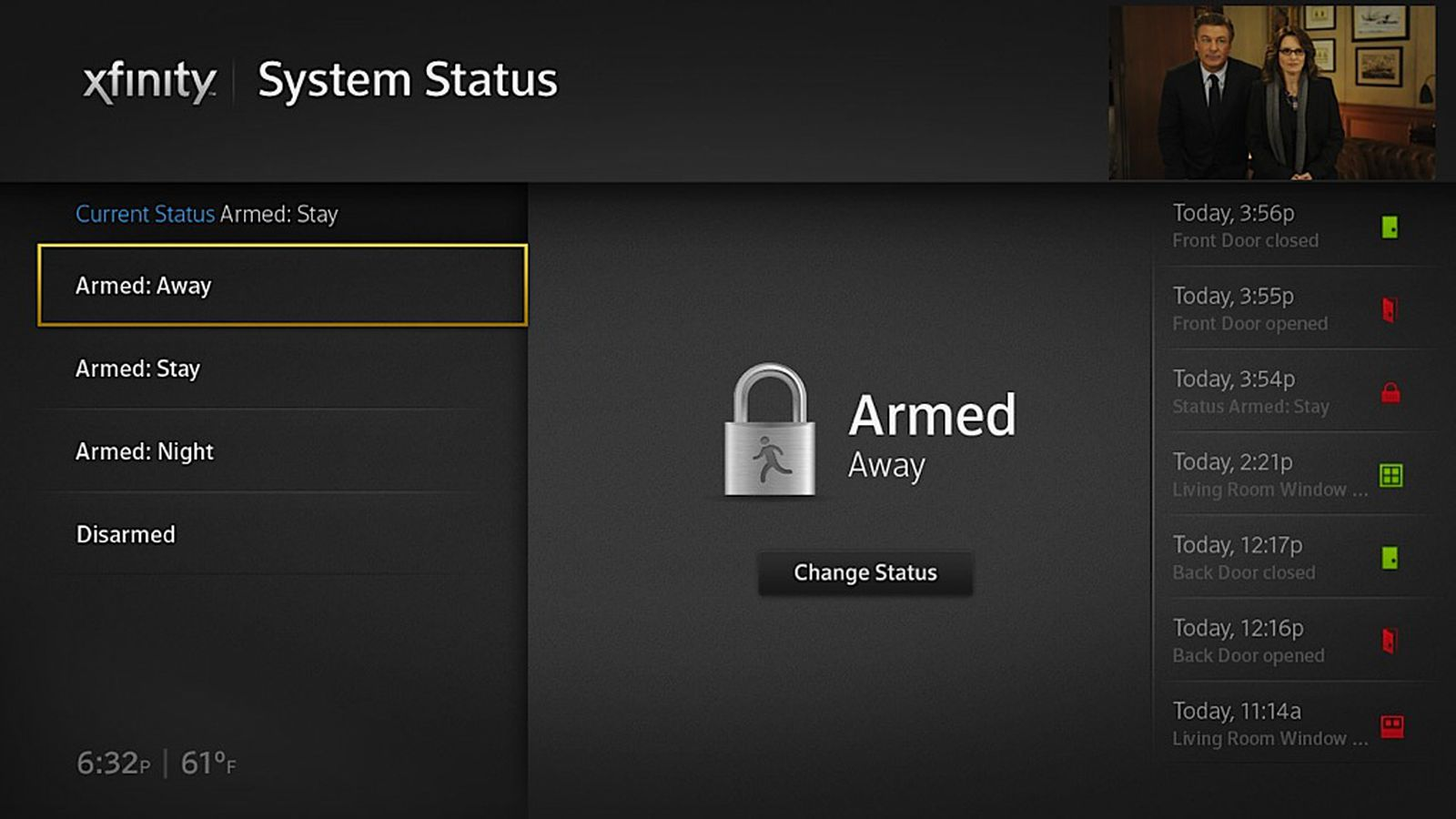 Xfinity Security Alarm System