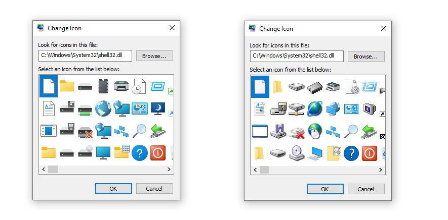 Windows Shell32 icons