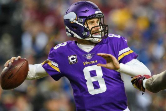 Image result for Kirk cousins in vikings uniform