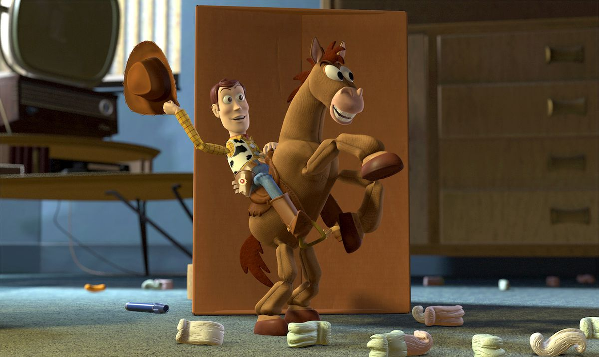 Woody and Bullseye in Toy Story 2