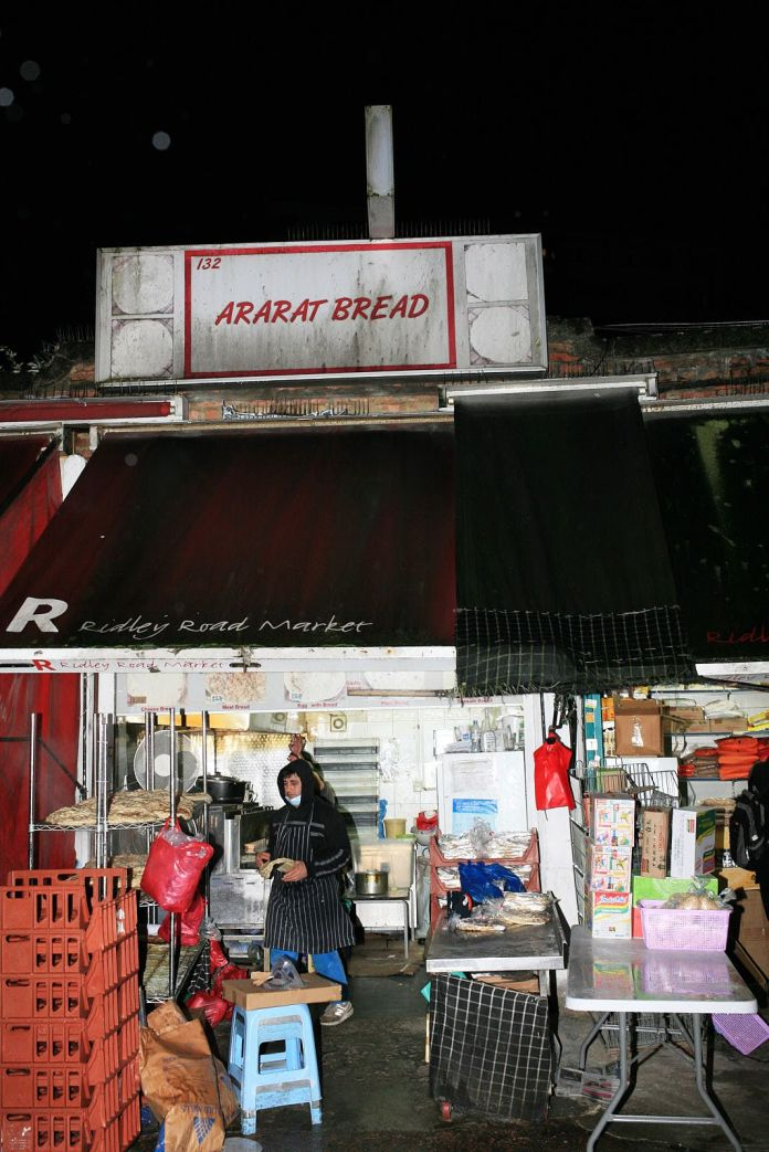 Ararat Bread in Ridley Road Market, one of London's best known and beloved naan vendors