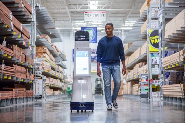 Nvidia's chips will be used to power autonomous robots like the one above, which guides customers around Lowe's stores.  Image: Lowe's