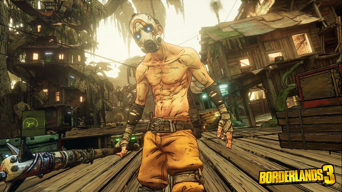 "A ""psycho"" with a spiked bat in Borderlands 3"