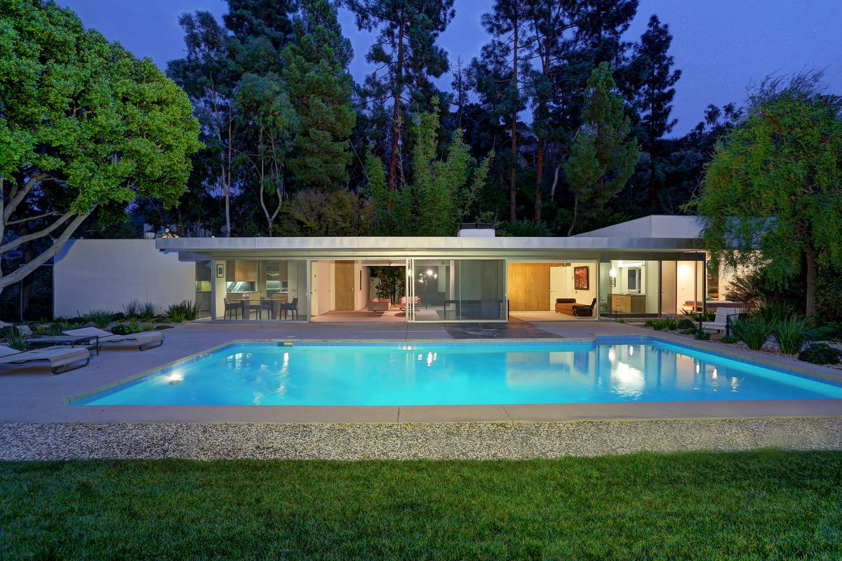 Richard Neutras Loring House For Sale For 56M Curbed LA
