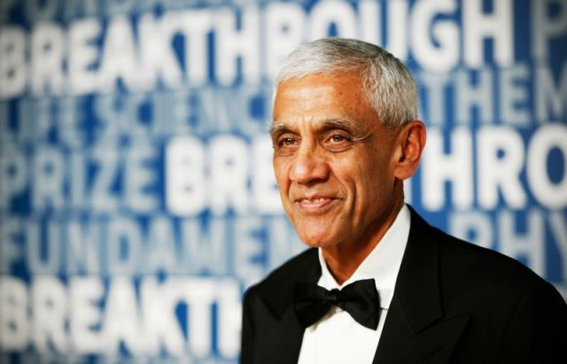 Vinod Khosla, a founder of Sun Microsystems, at the 2016 Breakthrough Prize awards ceremony in Mountain View, California on November 8, 2015.
