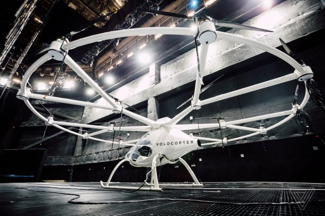 ces_2018_intel_volocopter_2387.0 Volocopter now accepting reservations for flights in its electric air taxi — but not until 2023 at the earliest | The Verge