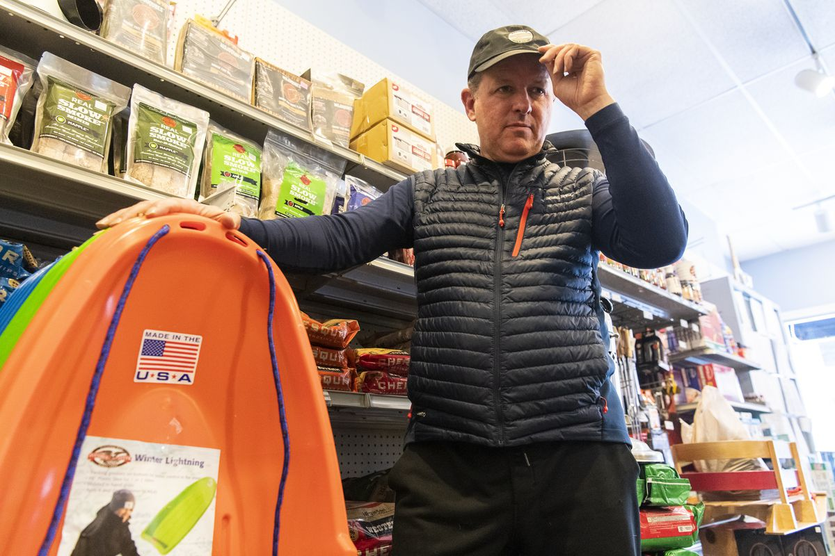 Brian O'Donnell, owner of Armitage Hardware, 925 W. Armitage Ave. in Lincoln Park, said snow shovels and sleds have been selling really well.