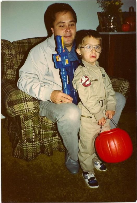 a wee little chris plante as a ghostbuster