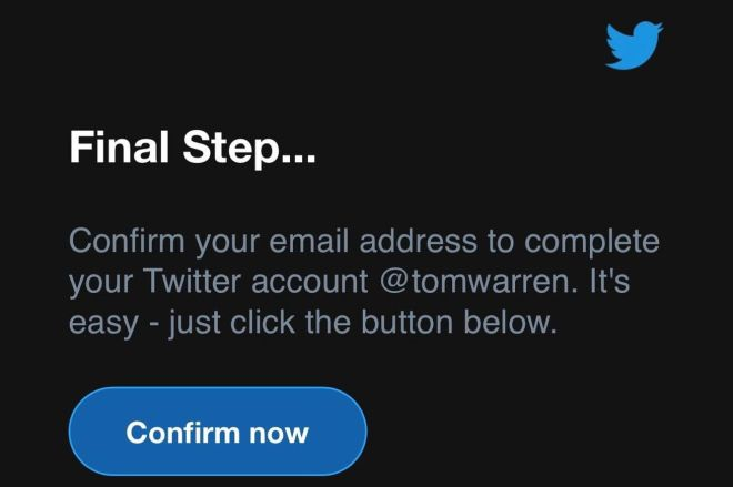EzprcS_WUAA3Q0g.0 PSA: Ignore that unexpected email from Twitter asking you to confirm your account   The Verge