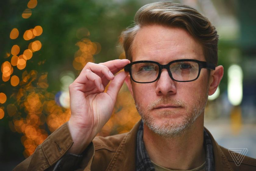 The Echo Frames look like relatively normal — but cheap — eyeglasses