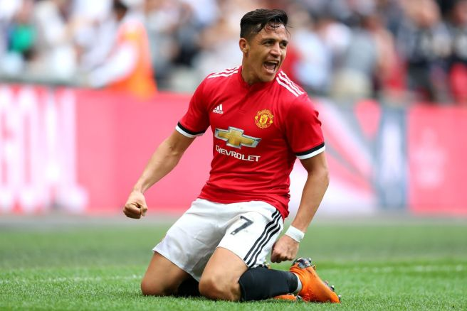 Image result for sanchez wembley fa cup semi man united