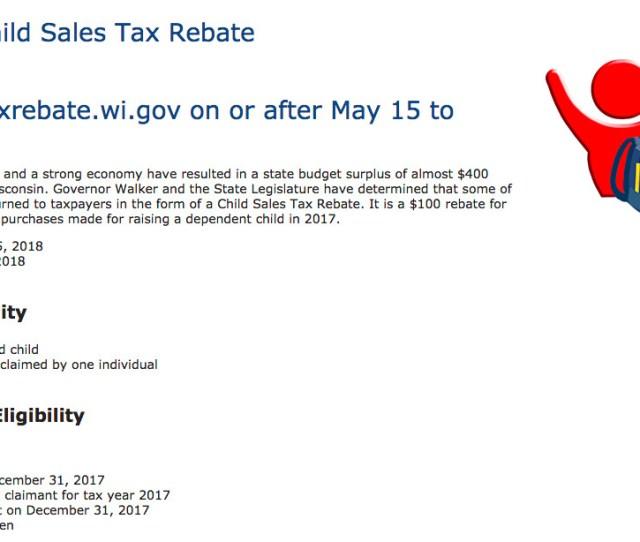 The Child Tax Rebate Website