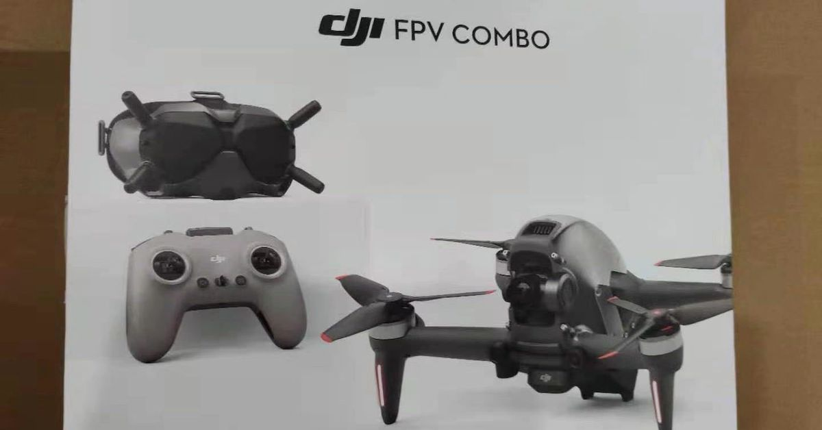 DJI's FPV racing drone looks mighty real in these leaked photos