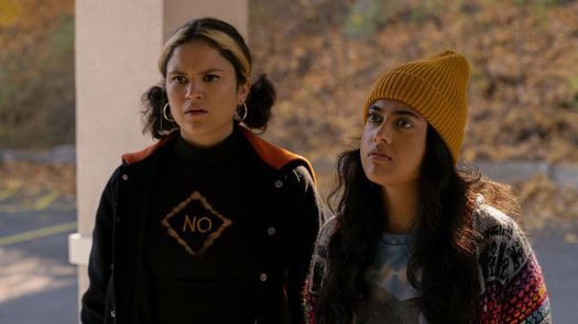 Lupe (Victoria Moroles) and Sunny (Kuhoo Verma) in Plan B.