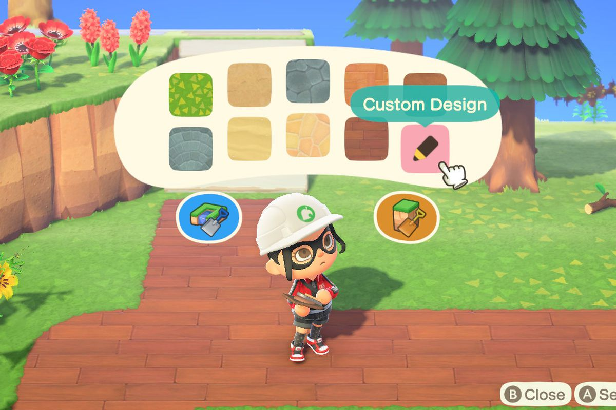 How to make custom paths in Animal Crossing: New Horizons ... on Animal Crossing New Horizons Wood Design  id=91244