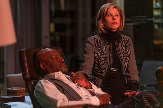 Delroy Lindo and Christine Baranski in The Good Fight