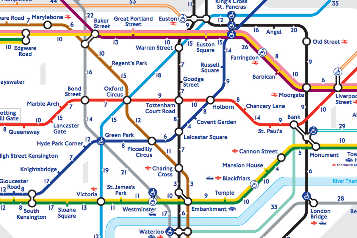 London S Walk The Tube Map Reveals The Real Distance