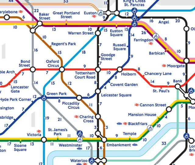Londons Walk The Tube Map Reveals The Real Distance Between Stations