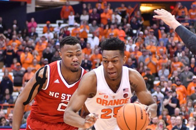 Image result for Syracuse Orange vs NC State Wolfpack College Basketball 2019
