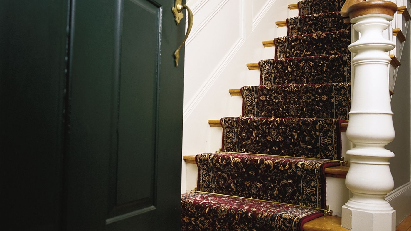 Stair Runner Carpet Learn How To Install One In 6 Steps This | Thin Carpet For Stairs | Striped Carpet Runner | Area Rug | Stair Runners | Ultra Thin | Stair Tread